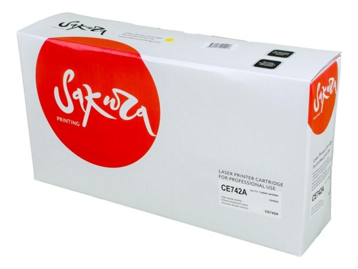 Картридж SAKURA CE742A для HP CP5225, желтый, 7300 к. - фото 10084