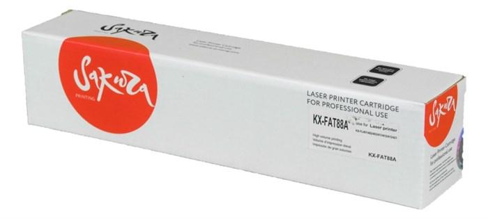Картридж SAKURA KXFAT88A  для Panasonic KX-FL403/ FL423/ FLC413/ FLC418, черный, 2000 к. - фото 10107