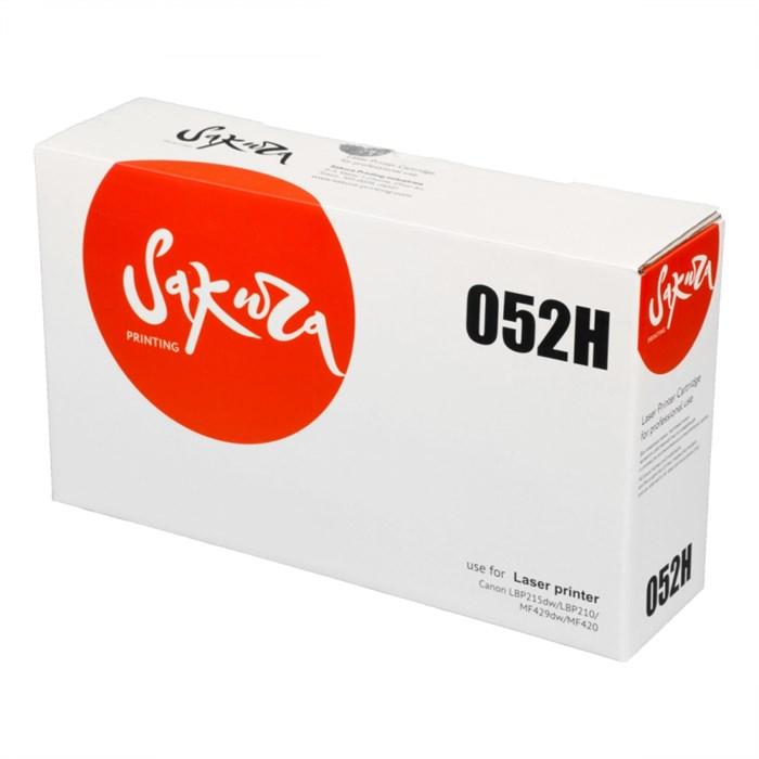 Картридж SAKURA CRG052H для Canon i-SENSYS LBP212/ 214/ 215, i-SENSYS MF421/ 426/ 428/ 429, черный, 9 200 к. - фото 10176