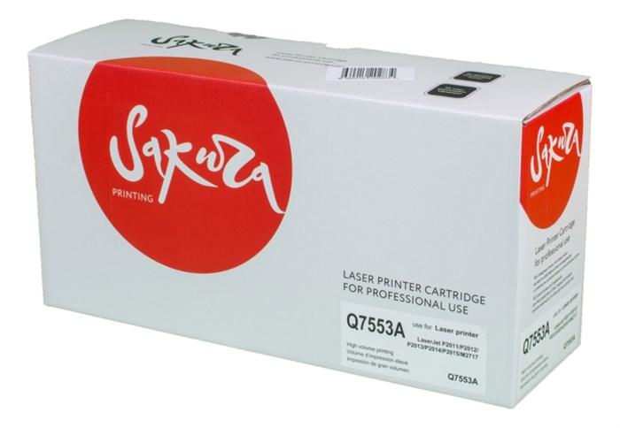 Картридж SAKURA Q7553A для HP LaserJet P2011/P2012/P2013/P2014/P2015/M2717, черный, 3000 к. - фото 10327