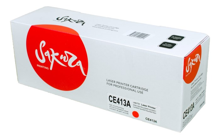 Картридж SAKURA CE413A для HP Laserjet Pro 400 Color M451DN/M451DW/451NW/MFP M475DW/M475DN, Laserjet 300 color MFP M375NW, пурпурный, 2600 к. - фото 10398