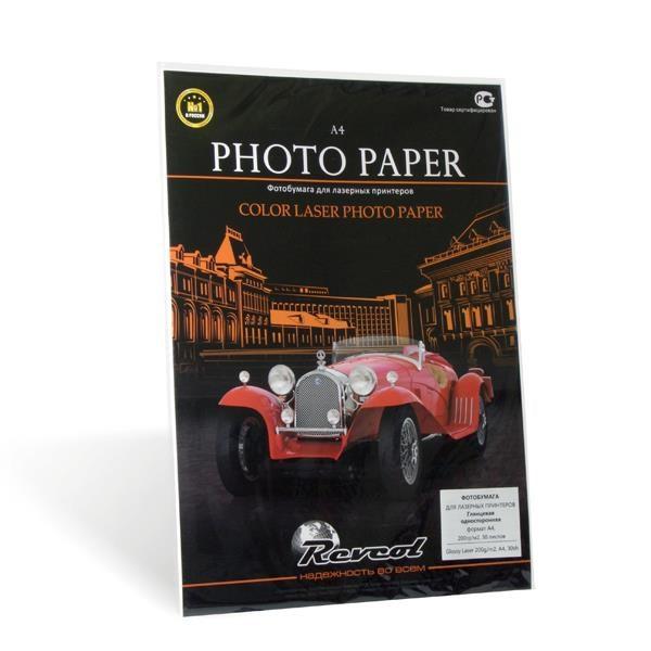 Фотобумага, Color Laser, глянцевая, двухсторонняя, A4, 128г/м2, 30 л. - фото 10411