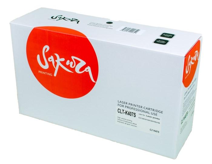 Картридж SAKURA CLTK407S для Samsung CLP-320/321/325/326/3185/318, черный, 1500 к. - фото 10670