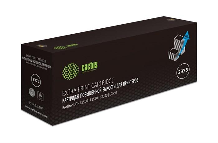 Картридж лазерный Cactus CS-TN2375-MPS черный (10400стр.) для Brother DCP L2500/L2520/L2540/L2560 - фото 10785
