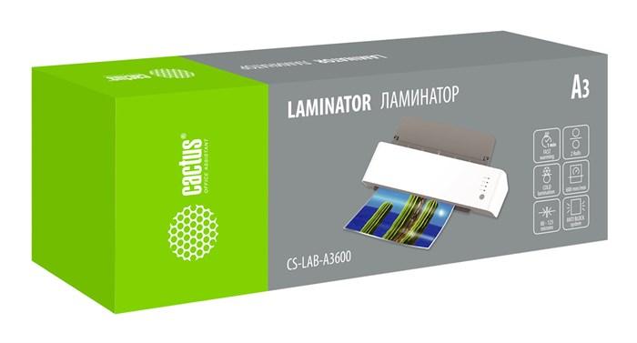 Ламинатор Cactus CS-LAB-A3600 A3 (80-125мкм) 60см/мин (2вал.) лам.фото - фото 10863