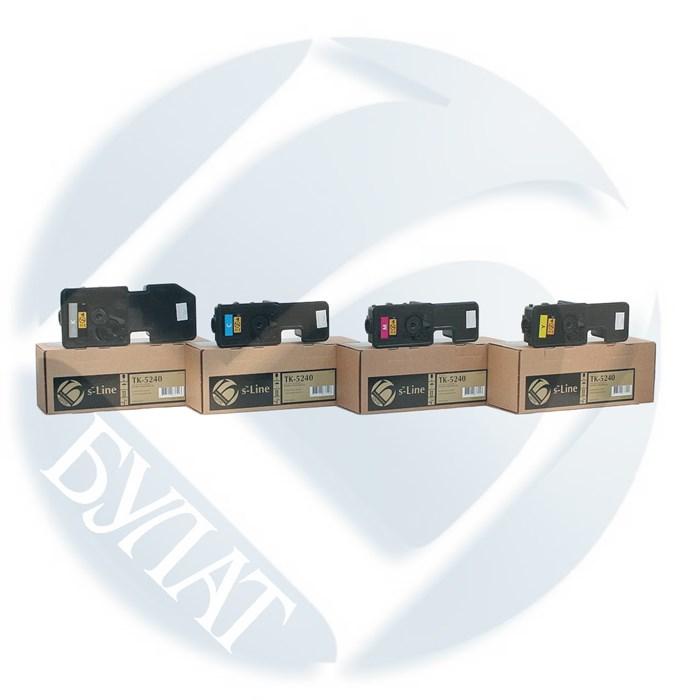 Тонер-картридж Kyocera ECOSYS P5026/M5526 TK-5240 (3k) Cyan (+чип) БУЛАТ s-Line - фото 10874