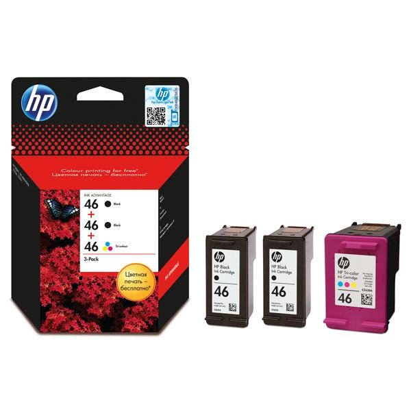 Картридж струйный HP 46 F6T40AE многоцветный/черный набор для HP DJ Adv 2020hc/2520hc - фото 10875