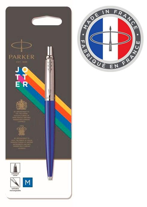 Ручка шариковая Parker Jotter Color (2076052) голубой M синие чернила блистер - фото 10899