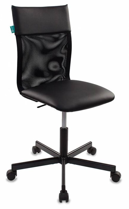 Кресло Бюрократ CH-1399 черный Leather Black искусст.кожа/сетка крестовина металл CH-1399/BLACK - фото 10966