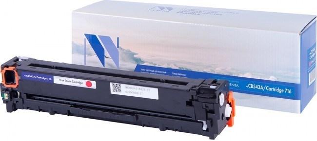 Картридж NVP совместимый NV-CB543A/NV-716 Magenta универсальные для HP/Canon Color LaserJet CP1215/ CP1515n/ CM1312/ CM1312nfi/ i-SENSYS LBP-5050/ MF8030C/ MF8050C/ 8080C (1400k) - фото 8844