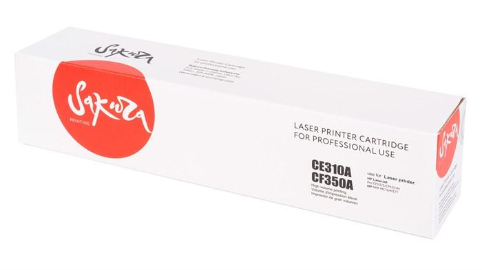 Картридж SAKURA CE310A/CF350A для HP LaserJet Pro CP1025, M175A/ M177fw/ M275, черный, 1200 к. - фото 8875