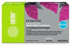 Картридж струйный Cactus 953XL CS-F6U17AE пурпурный (26мл) для HP OJ Pro 7740/8210/8218/8710/8715 - фото 8918