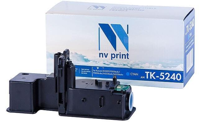 Картридж NVP совместимый NV-TK-5240 Cyan для Kyocera Ecosys P5026cdn/P5026cdw/M5526cdn/M5526cdw (3000k) - фото 8974