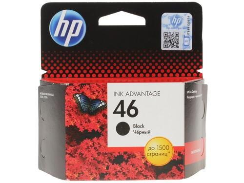 Картридж струйный HP 46 CZ637AE черный (1500стр.) для HP DJ Adv 2020hc/2520hc - фото 9415