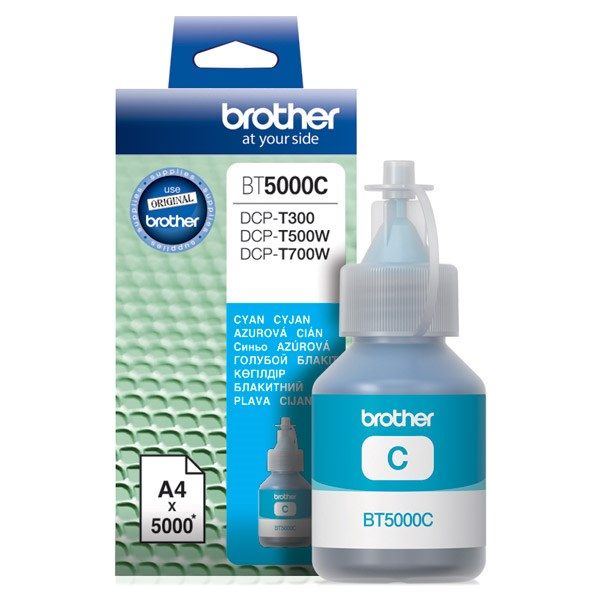 Чернила Brother BT5000C голубой (5000стр.) для Brother DCP-T300/T500W/T700W - фото 9416