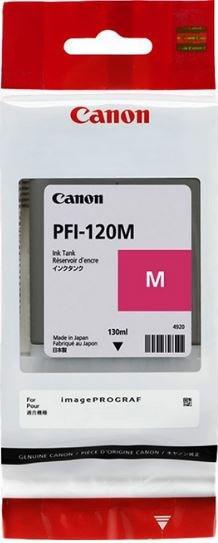 Картридж струйный Canon PFI-120 M 2887C001 пурпурный (130мл) для Canon imagePROGRAF TM-200/205 - фото 9424