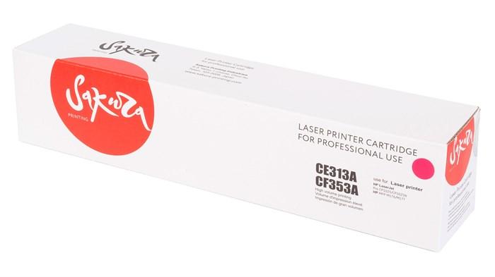 Картридж SAKURA CE313A/CF353A для HP LaserJet Pro CP1025, M175A/ M177fw/ M275, пурпурный, 1000 к. - фото 9448