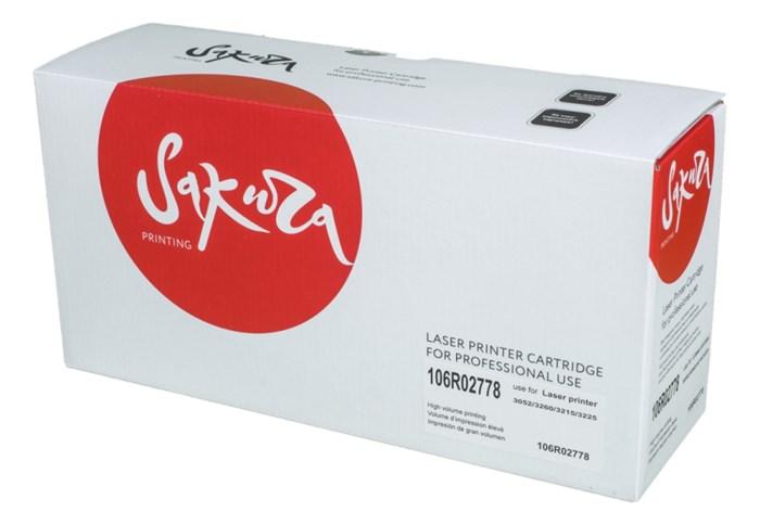 Картридж SAKURA 106R02778 для Xerox Phaser 3052/3260/ WC3215/3225, черный, 3000 к. - фото 9642