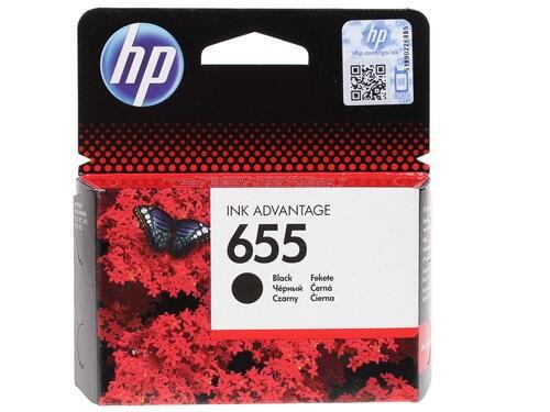 Картридж струйный HP 655 CZ109AE черный (550стр.) для HP DJ IA 3525/4615/4625/5525/6525 - фото 9668