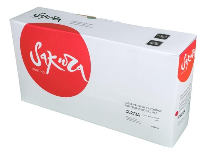 Картридж SAKURA CE273A для HP LaserJet Enterprise M750xh, M750n, M750dn, CP5525xh, CP5525n, CP5525dn, пурпурный, 15 000 к. - фото 9676