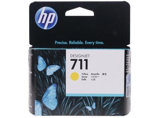 Картридж струйный HP 711 CZ132A желтый (29мл) для HP DJ T120/T520 - фото 9747