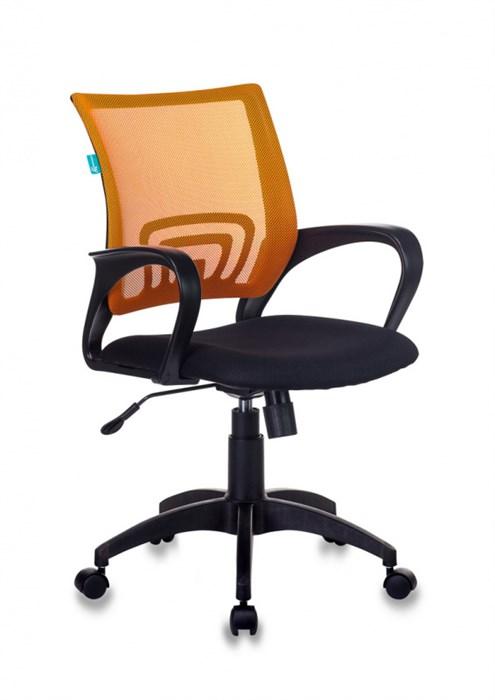 Кресло Бюрократ CH-695N оранжевый TW-38-3 сиденье черный TW-11 сетка/ткань крестовина пластик - фото 9779