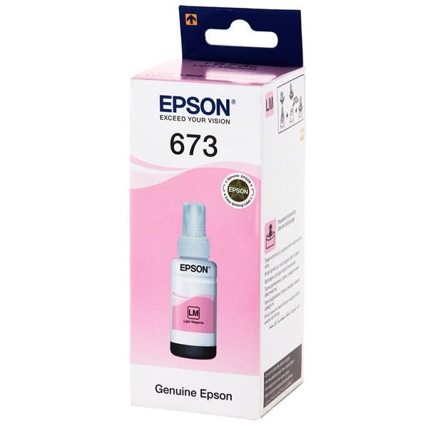 Чернила Epson T6736 C13T67364A светло-пурпурный (70мл) для Epson L800 - фото 9844