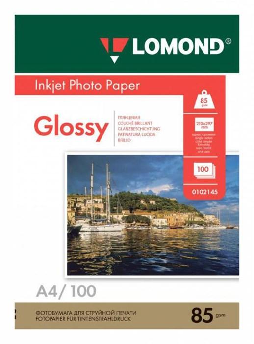 Фотобумага Lomond 0102145 A4/85г/м2/100л./белый глянцевое для струйной печати - фото 9864