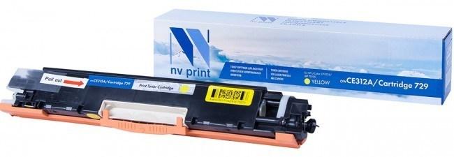 Картридж NVP совместимый NV-CE312A/NV-729 Yellow для HP Color LaserJet CP1025/ CP1025nw/ M275/ CP1025/ CP1025nw/ 100 M175a/ 100 M175nw/ LBP 7010 i-Sensys/ 7010C i-Sensys/ 7018 i-Sensys/ 7018C i-Sensys (1000k) - фото 9905