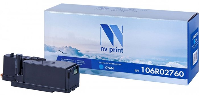 Картридж NVP совместимый NV-106R02760 Cyan для Xerox Phaser 6020/6022/ / WorkCentre 6025/6027 (1000k) - фото 9921