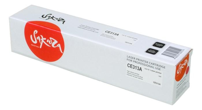Картридж SAKURA CE313A для HP LaserJet Pro CP1025/CP1025NW, Canon i-SENSYS LBP-7010 Color  пурпурный, 1000 к. - фото 9977
