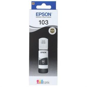 Чернила Epson 103BK C13T00S14A черный (4500стр.) (65мл) для Epson L3100/3110/3150