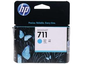 Картридж струйный HP 711 CZ130A голубой (29мл) для HP DJ T120/T520