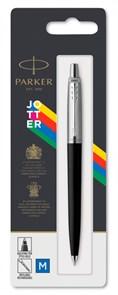Ручка шариковая Parker Jotter K60 (2096873) черный M синие чернила блистер