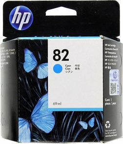 Картридж струйный HP 82 C4911A голубой (69мл) для HP DJ 500/800