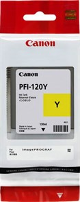 Картридж струйный Canon PFI-120 Y 2888C001 желтый (130мл) для Canon imagePROGRAF TM-200/205