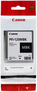 Картридж струйный Canon PFI-120 MBK 2884C001 черный матовый (130мл) для Canon imagePROGRAF TM-200/20