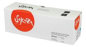 Картридж SAKURA CF411A для HP LaserJet Pro M452nw, M452dn, M477fnw, M477fdw, M477fdn, M377dw, синий, 2300 к.