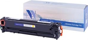 Картридж NVP совместимый NV-CB542A/NV-716 Yellow универсальные для HP/Canon Color LaserJet CP1215/ CP1515n/ CM1312/ CM1312nfi/ i-SENSYS LBP-5050/ MF8030C/ MF8050C/ 8080C (1400k)