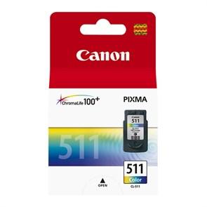 Картридж струйный Canon CL-511 2972B007 многоцветный для Canon MP240/MP260/MP480