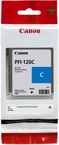 Картридж струйный Canon PFI-120 C голубой (130мл) для Canon imagePROGRAF TM-200/205