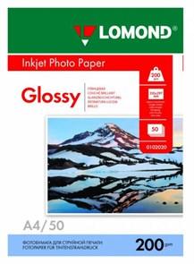 Фотобумага Lomond 0102020 0102020 A4/200г/м2/50л./белый глянцевое для струйной печати