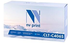 Картридж NVP совместимый NV-CLT-C406S Cyan для Samsung CLP 360/ 365/ 365W/ Xpress C410W/ C460W/ CLX 3300/ 3305/ 3305FN/ 3305FW/ 3305N/ 3305W (1000k)