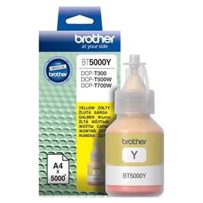 Чернила Brother BT5000Y желтый (5000стр.) для Brother DCP-T300/T500W/T700W
